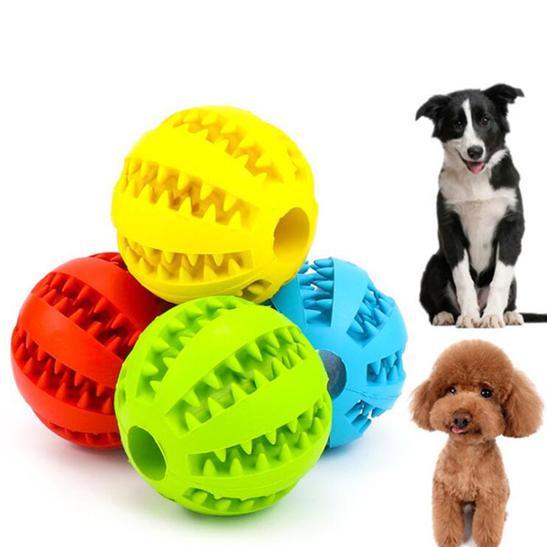 best selling 7cm 5cm Pet Dog Toys Ball Funny Interactive Elasticity Dog Chew Toy for Dog Tooth Clean Ball Of Food Extra-tough Rubber Ball