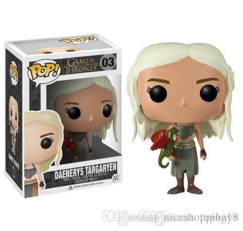 NEUE ANKUNFT Funko Pop Spiel Thrones Daenerys Targaryen Vinyl Action Figure Mit Box # 03 Beliebte Spielzeug Gute Qualität FÜR KINDER GESCHENK