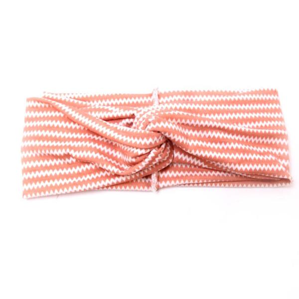 Women Sports yoga Bow Cotton Soft Turban hair band headband Head Wrap flat knotted Wave print Headwrap