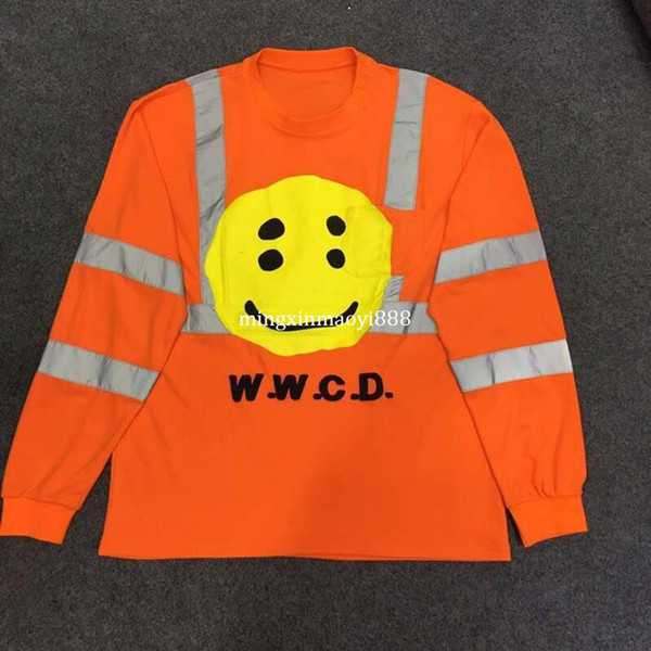 Kanye West ASAP Rocky 2019SS New Arrived Men CPFM W.W.W.C.D Reflective Foam Printing Crewneck Hoodie Sweatshirt Pullover