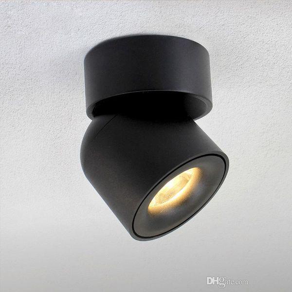New Led Surface Mounted Ceiling Downlight Adjustable 90 degrees Nordic Spot light for indoor Foyer,Living Room AC 90-260V