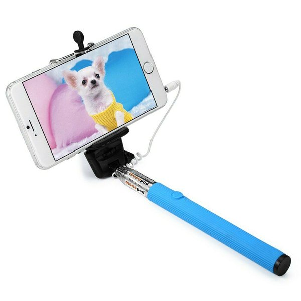 Universal Z07 - 5S Monopod Selfie Stick Self Portrait Pole Plastic and Stainless Steel Material with Cable and With Remote Shutter Button