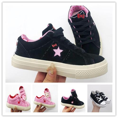 Baby brand style classic canvas shoes kids fashion One Star shoes boys and girls sports canvas and sports children shoes conver gift