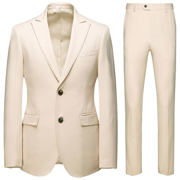 New Fashion Handsome Dark Gray Mens Suit Groom Suit Wedding Suits For Best Men Slim Fit Groom Tuxedos For Man(Jacket+Pant) J1906179