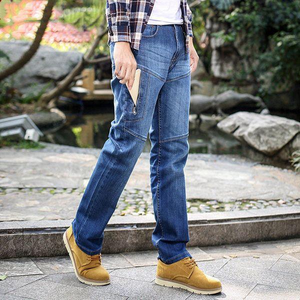 FGKKS Fashion Brand Men Jeans Classic Pants 2019 Autunno uomo Abbigliamento casual denim pantaloni uomo blu jeans pantaloni