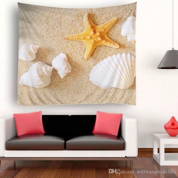 230x180cm style préféré Mer landscapeSunset Mur Polyester Art Décoration Hanging Tapisserie Throw Yoga Mat Indian Beach Châle Serviette de bain