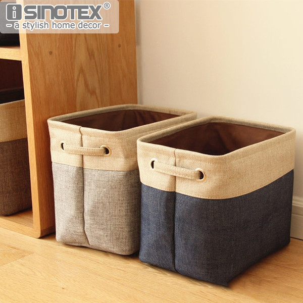 large bag Large Basket Bag Cotton Linen Clothing Sundries Toys Folding Storage Box Organizer Collection Home Bedroom Car 3 Sizes