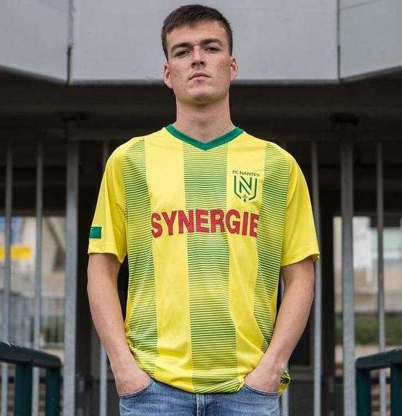top popular 19 20 FC Nantes men soccer jersey 2019 2020 FC Nantes men football shirt camiseta de fútbol camisa futebol maillot de foot 2019