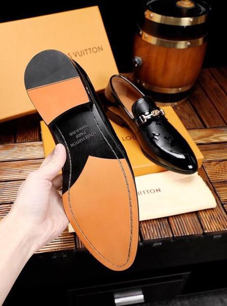 Iduzi Erkekler Elbise Ayakkabı Timsah Desen Zarif Erkek Resmi Ayakkabı Deri Klasik Tasarımcı Takım Ayakkabı Düğün Parti Için kırmızı deri alt