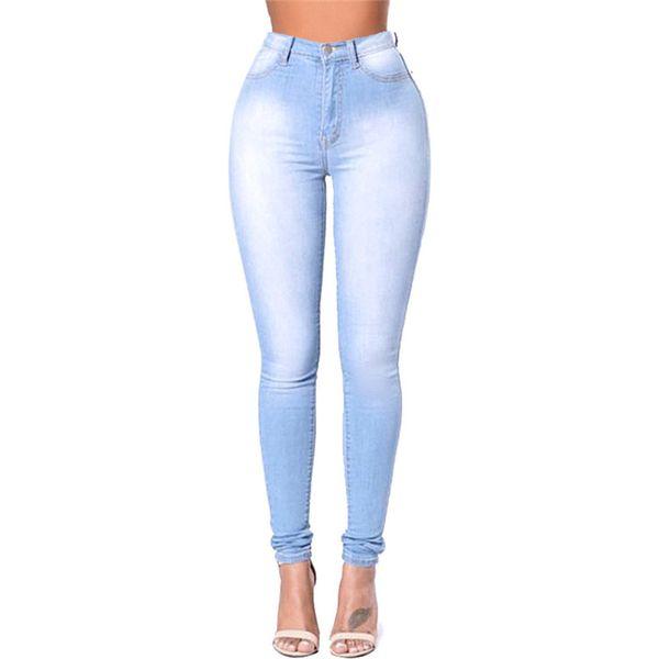 Compre Las Mujeres De Color Azul Claro Pantalones De Moda De ...