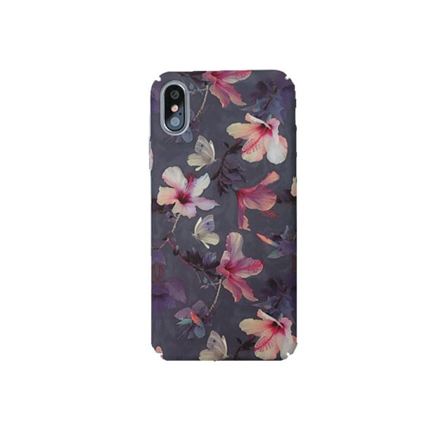 Fashion Phone Case for IphoneX XS XR XSMAX Iphone7/8Plus Iphone7/8 Iphone6/6sP 6/6s Cool Back Cover with Literature and Art Flower Printing