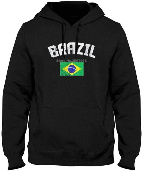 Drapeau brésilien des hommes brésilien fierté de la mode nouvelle mode des hommes à manches longues en coton sweats à capuche