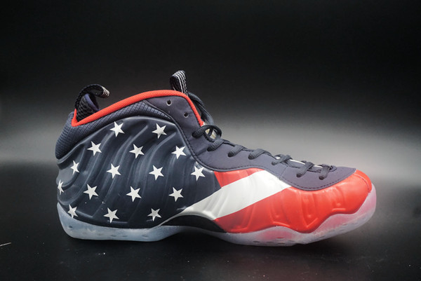 Mens Shoe Captain Matching Pattern Of High Top America Color Basketball Shoes Feeling With Origial Box On Sale