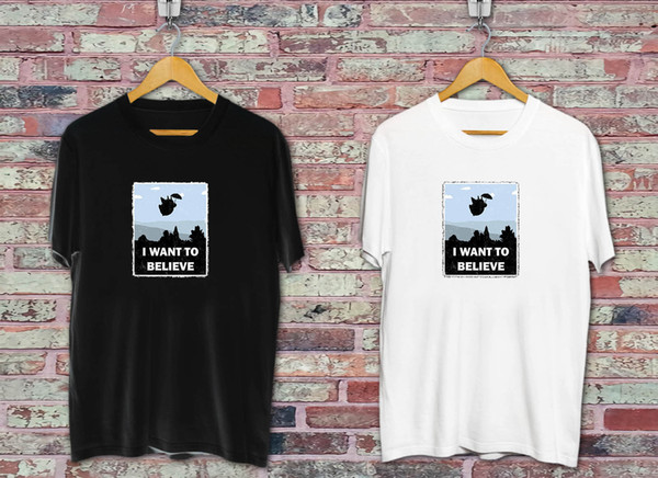 Поверьте в магию соседей черный белый футболка смешно 100% хлопок футболка