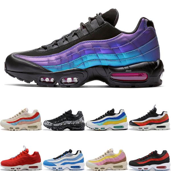 nike air max 95 shoes Lazer Fuşya Tasarımcı Erkek Kadın Koşu Ayakkabıları Teal Bulutsusu Sıçramak TT Çekin Tab Aqua Neon Üzüm Bred Erkek Eğitmenler Spor Sneakers 36-46