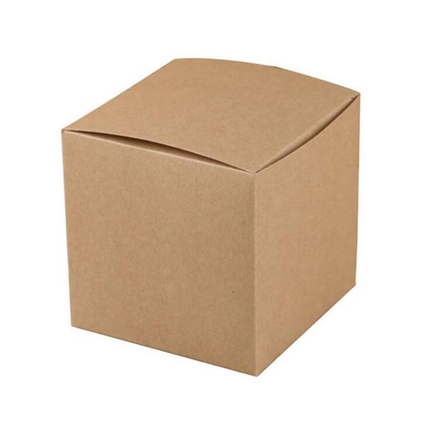 Крафт-бумага Квадратный Коробка Конфет Свадьба Пользу Подарочная Коробка Мыло Ручной Работы DIY Крафт-Бумага Коробка 10 * 10 * 10 см Y0233