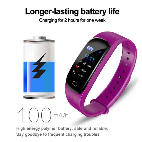 1 pcs M5 Inteligente Pulseira de Fitness Rastreador Monitor de Freqüência Cardíaca de Sono pressão Arterial pedômetro Mensagem Push
