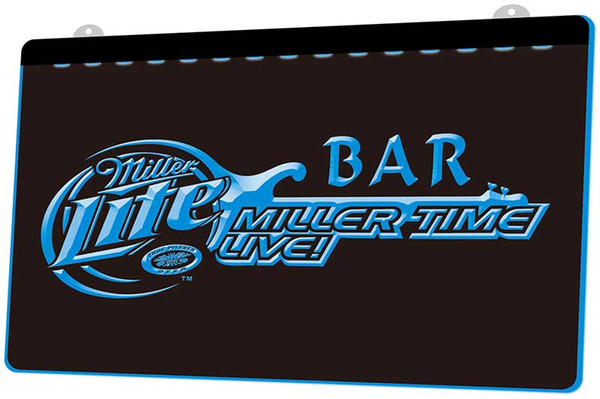 LS1231-b-Miller-Time-Live-Bar-Beer-Neon-Light-Sign.jpg Decor Free Shipping Dropshipping Wholesale 8 colors to choose