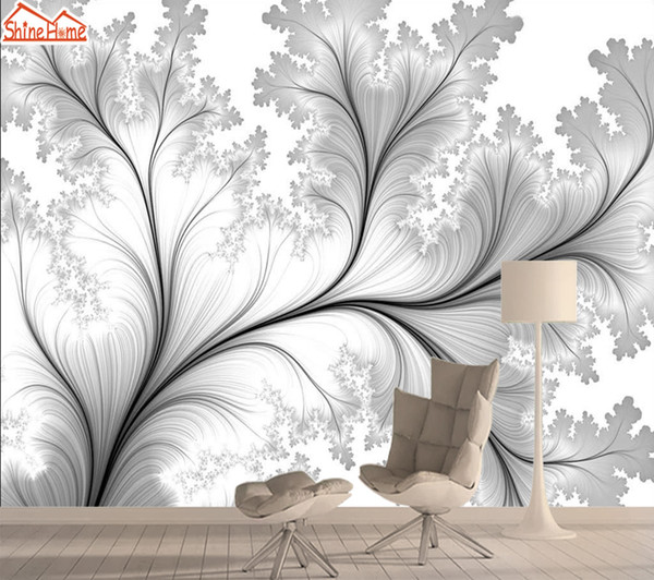 Black White Tree 3d Nature Photo Mural Wallpaper Wallpapers for Living Room Wall Papers Home Decor Self Adhesive Murals Rolls
