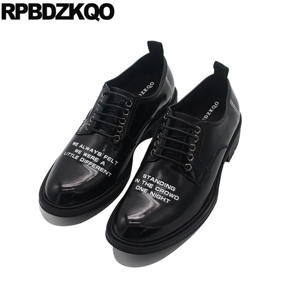 men black patent leather dress shoes 11 lace up oxfords cow skin Italy wedding genuine plus size  italian european prom