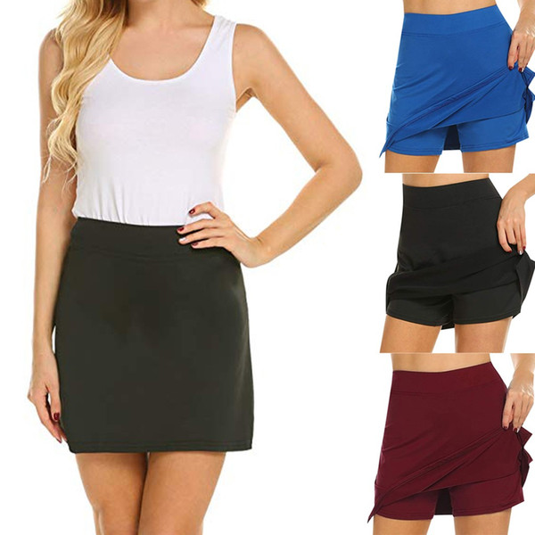 Performance Active Skorts Skirt skirts womens plus size pencil skirts womens Running Tennis Golf Workout Sports Natural Mar