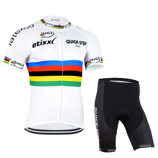 2019 HIZLI ADIM Bisiklet Jersey seti Kısa Kollu önlük şort setleri Yaz Bisiklet Gömlek Bisiklet Giyim Bisiklet Aşınma Nefes Çabuk kuru