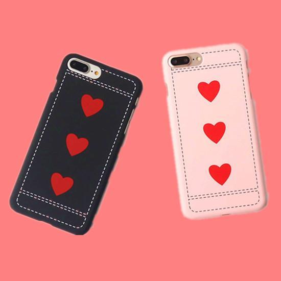 3D Love Heart Couple Matte PC Hard Case for Iphone X XS 8 8P 7 6 6s plus 7plus 5 5s Se I Phone Xs 8plus Case Black Pink Cover Wholesale