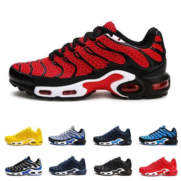 TN PLUS Zapatillas de running para hombre Nanotecnología KPU Material Clásico Triple Negro Rojo Azul Amarillo Transpirable Casual Sports Sneakers Tamaño 7-13
