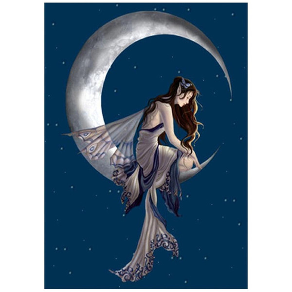 Free shipping Diamond Painting Moon Girl 25 Styles Fashion DIY Embroidery 5D Diamond Painting Craft Cross Stitch Home Bedroom Decor