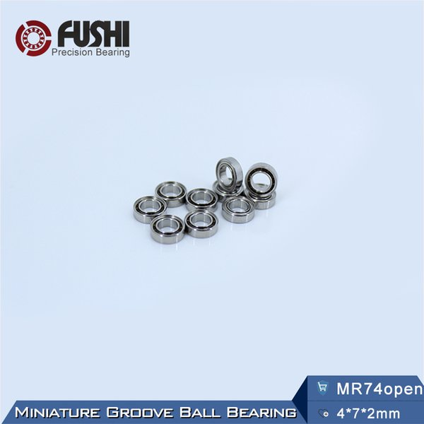 MR74 OPEN Bearing 4*7*2 mm ( 10 PCS ) ABEC-1 Miniature High Precision MR74 OPEN Ball Bearings