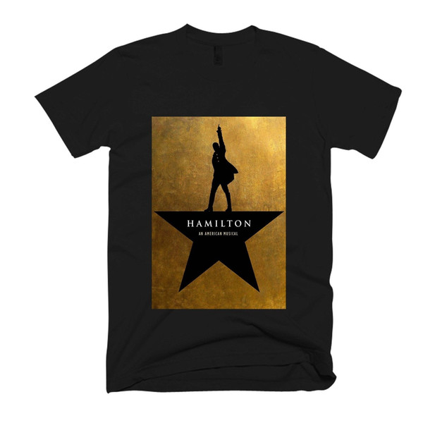 Hamilton Musical Poster Men's / Women's T Shirt free shipping wholesale New Brand-Clothing Tee High Quality Custom Printed Casual O-Neck