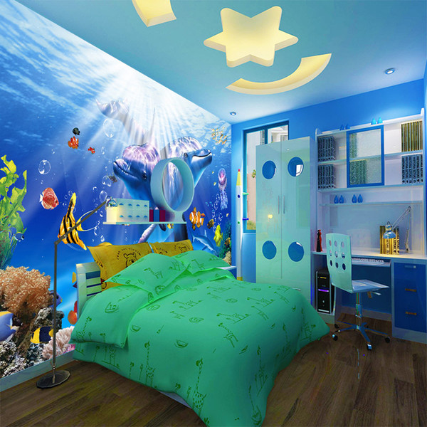 3d Under The Sea Wallpaper Deep Ocean Animals Sea Themed Room Wall Decoration Household Improvement Project Vivid Kids Room Large Mural Freewallpapers