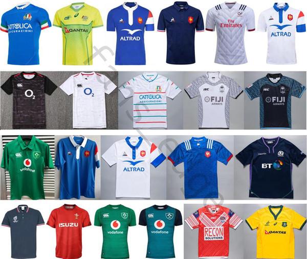 2019 National Team Tonga Ireland IRFU Italy Fiji Australia French Rugby League Jerseys Italia Scotland Red Wales T-Shirt Top Quality Shirts