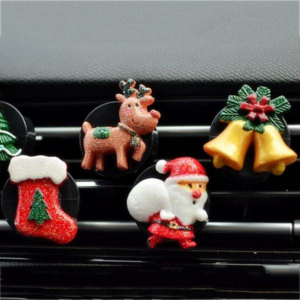 Car Air Outlet Perfume Santa Claus Automobiles Air Freshener Car Ornament Conditioner Outlet Clip Decor