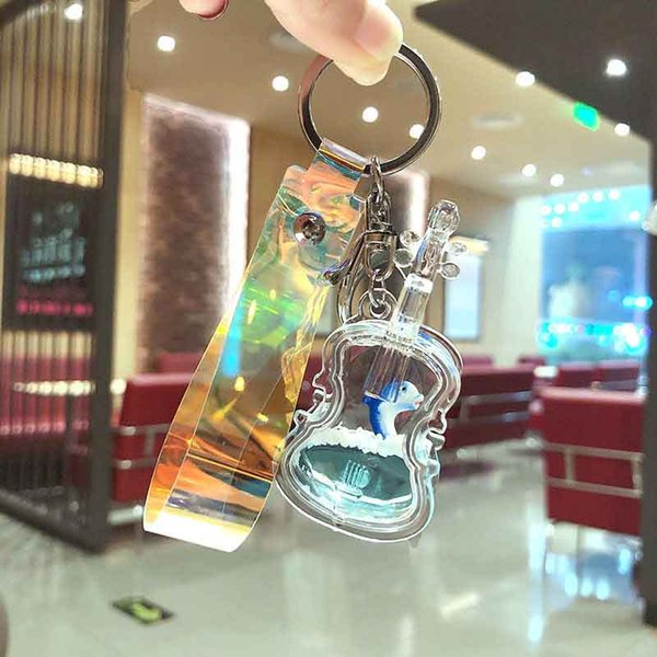 Neue Glas Treibsand Flasche Schlüsselanhänger Fantasy Schlüsselanhänger Treibsand Autoschlüssel Anhänger kreative Geburtstagsgeschenk