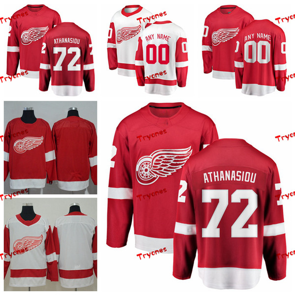 sale retailer 78468 de8ec 2019 2019 Detroit Red Wings Andreas Athanasiou Jerseys Customize Home Red  Shirts #72 Andreas Athanasiou Hockey Jerseys S XXXL From Tryones, $36.65    ...