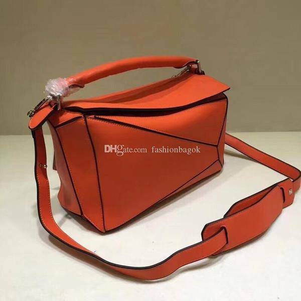 Высокое качество 2018 новый стиль моды из натуральной кожи головоломки женская сумка геометрическая сумка вечерняя сумка