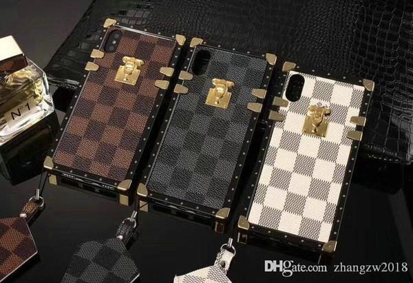 Für iphone X Fall Markentelefon Kastenabdeckung für iphone 11 11Pro 7 7PLUS 8 8plus 6 6S 6Plus Xs max X Xr TPU Silikon weiche Schale mit Lanyard