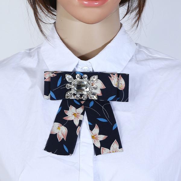Sunnice heiße modische koreanische Version handgemachte Damen-Fliege mit Blumen 14 * 12.5cm Art und Weisezusätze Berufskragen-Blume
