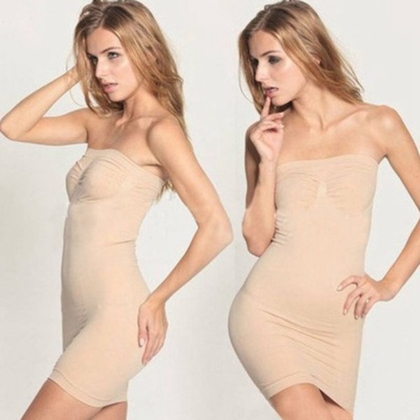 Le donne di modo senza spalline bustier lingerie corsetto gonna elastico dimagrante addome vita formazione corsetto shaper tubo top busto avvolto RRA1358