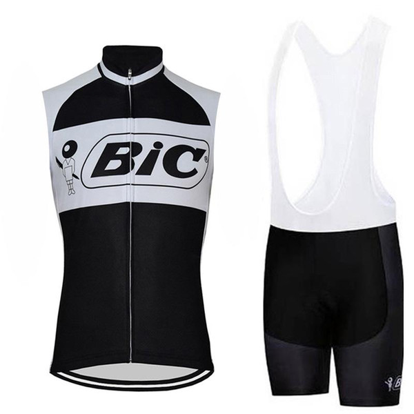 Bic 2019 verão nova sem mangas de corrida bicicleta ciclismo jersey respirável ciclismo clothing set maillot ropa ciclismo hombre