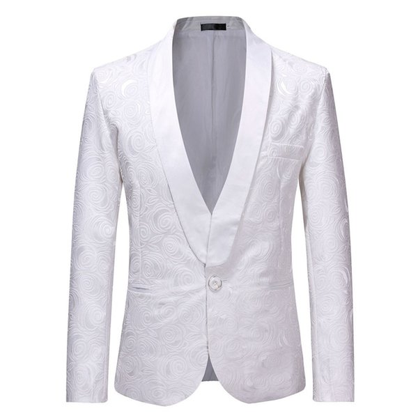 High quality spring and autumn new men's Turn-Down collar casual wedding dress jacket men's jacket single-breasted 7.8
