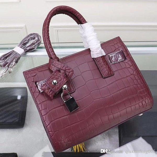 Sac à main classique pour femmes designer de mode en cuir de luxe production de motifs de crocodile de haute qualité, sac à bandoulière en tissu d'origine NB: Y2 +8