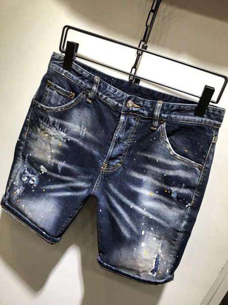 best selling Mens Designer Jeans Summer Fashionable avant-courier Comfortable Elastic Waist Loosemens Jeans Men Comfortable Breathable Designer Jeans