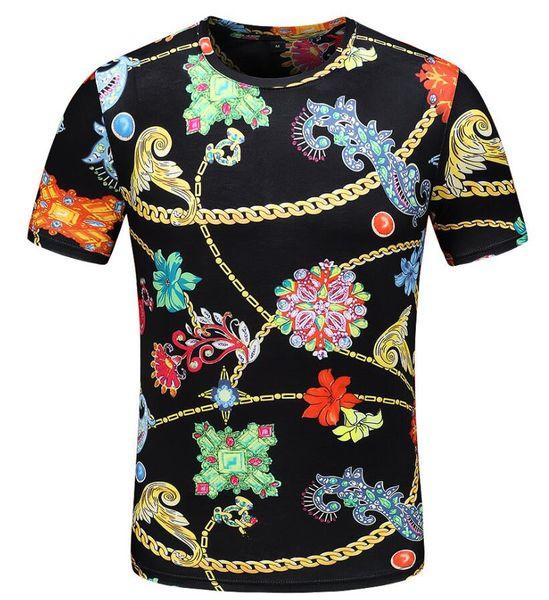 1 pecs Black Flower print Men's short sleeves polo shirt T-shirts Polos Shirt For Men luxury Polos Men Cotton Short Sleeve shirt Sweater