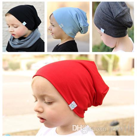 INS Baby Cotton Hats Girls Boys Warm Caps Candy Color Beanies Accessories Infant Hats Kids Winter Beanie Photography Props Caps LC649