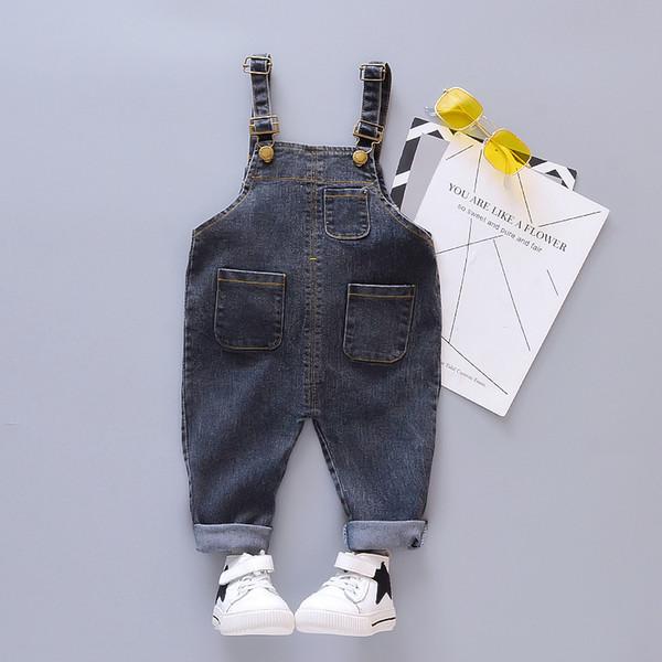 2019 Automne Bébé Garçons Filles Salopette Bavoir Enfant Denim Pants Infant Jumpsuit Enfants Barboteuse Enfants Jeans Tout-petit Vêtements Casual