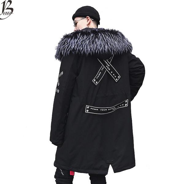 Jaqueta de inverno Quente Homens de veludo Grosso Jaquetas Quentes Parkas hombre Casaco Com Capuz dos homens longo trench coat EUA tamanho XS-XL