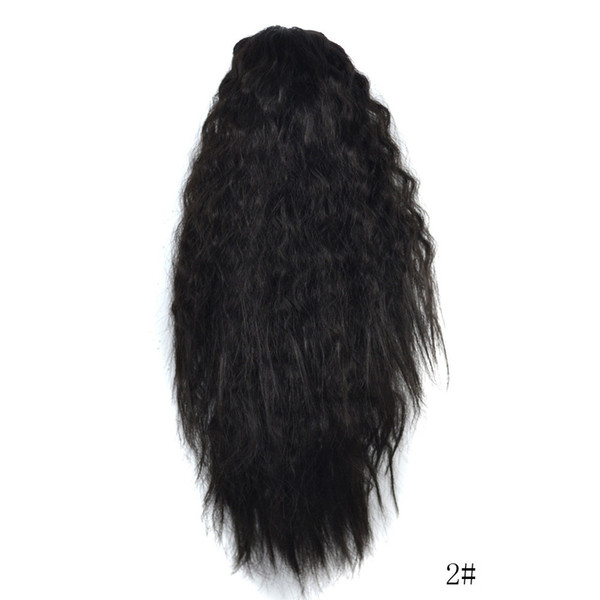 Women's Fashion Long Ombre Wavy Wig Claw Thick Wavy Curly Short Ponytail Horsetail Clip Hair Extensions Cosplay Synthetic Wigs