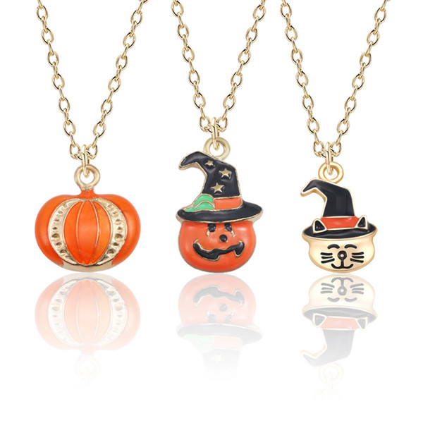Halloween Decoration witch magic hat Enamel Crystal Rhinestone DIY Custom Pumpkin Girl Pendant Charm